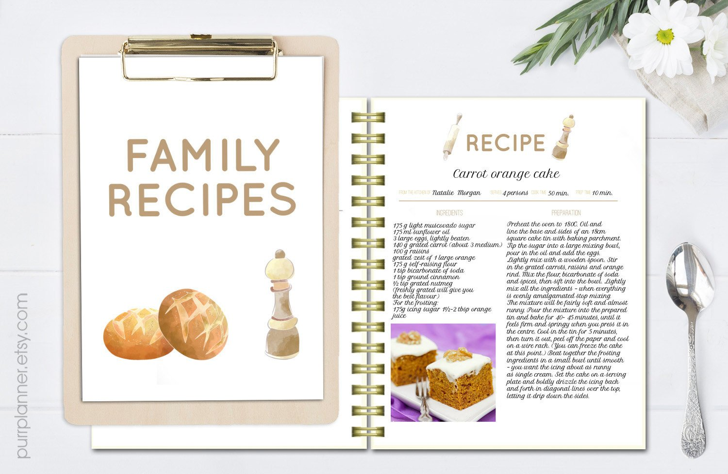 Recipe Book Template Word Printable Editable Recipe Pages Recipe Book Template Recipe