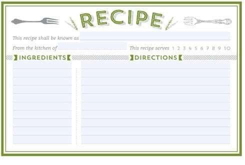 Recipe Template for Word 21 Free Recipe Card Template Word Excel formats
