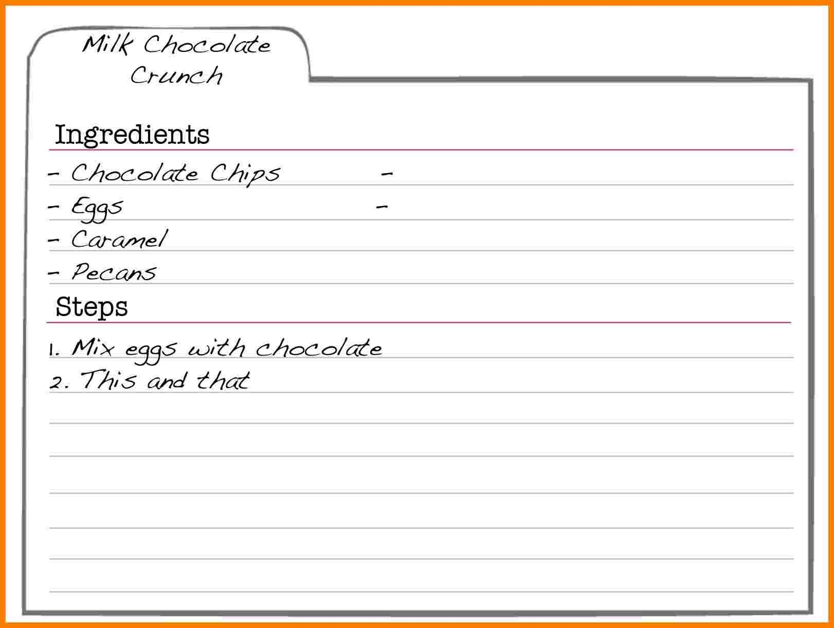 Recipe Template for Word 5 Free Editable Recipe Card Templates for Microsoft Word