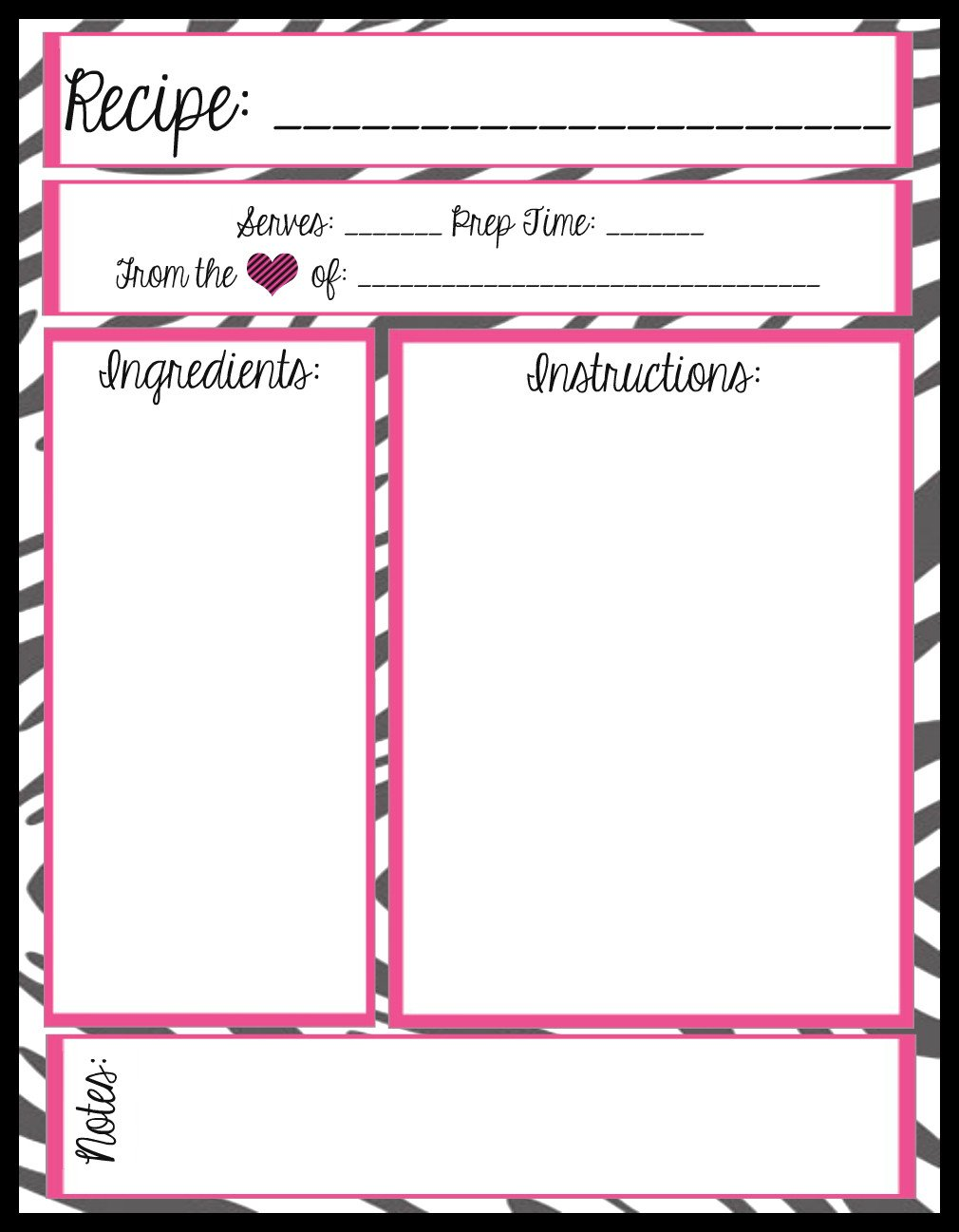 Recipe Template for Word Mesa S Place Full Page Recipe Templates [free Printables]