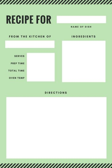 Recipe Templates for Pages Customize 9 482 Recipe Card Templates Online Canva