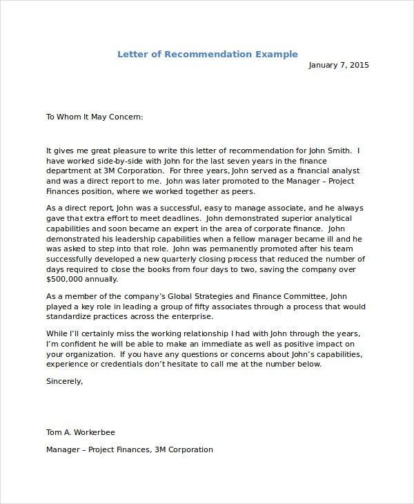 Recommendation Letter for Immigration Letter Re Mendation for Immigration