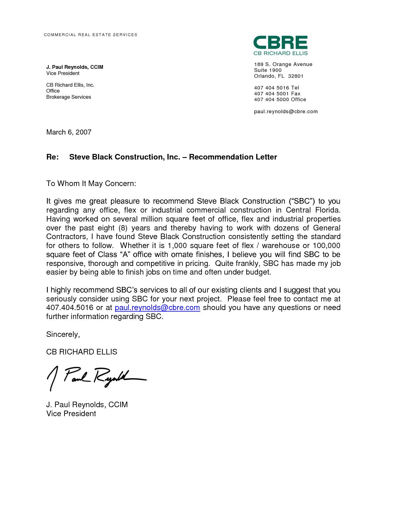 Recommendation Letter Template for Job Reference Letter for A Job Best Letter