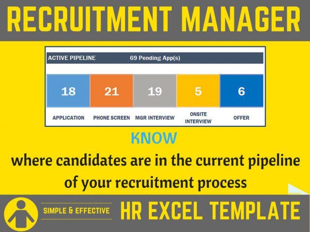 Recruiting Metrics Excel Template Recruitment Manager Excel Template