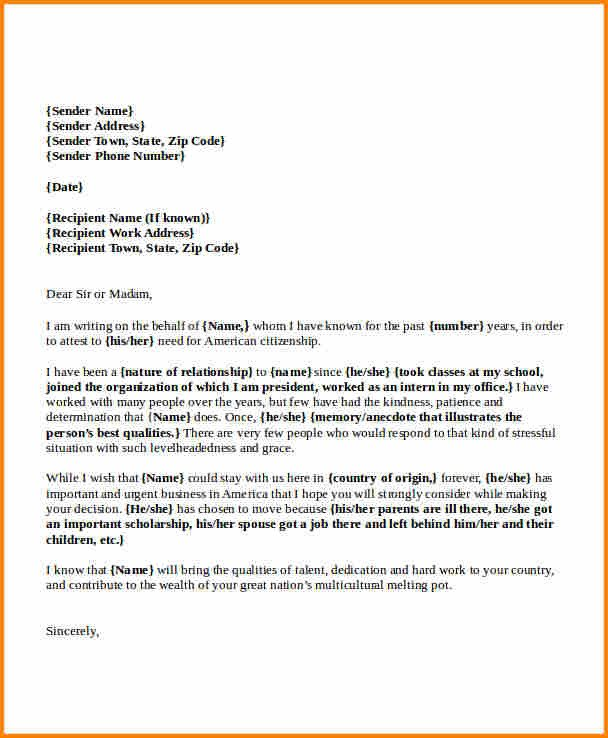 Reference Letter for Immigration 9 How to Write A Reference Letter for Visa Application