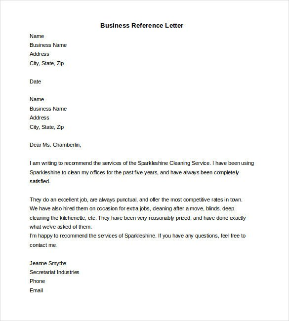 Reference Letter Templates Word 19 Reference Letter Templates Doc Pdf