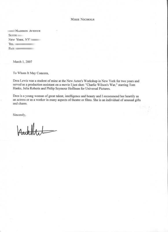 Reference Letter Templates Word Letter Re Mendation Templates Word