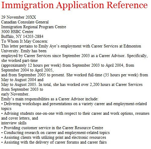 Reference Letters for Immigration Letters Of Reference October 2012