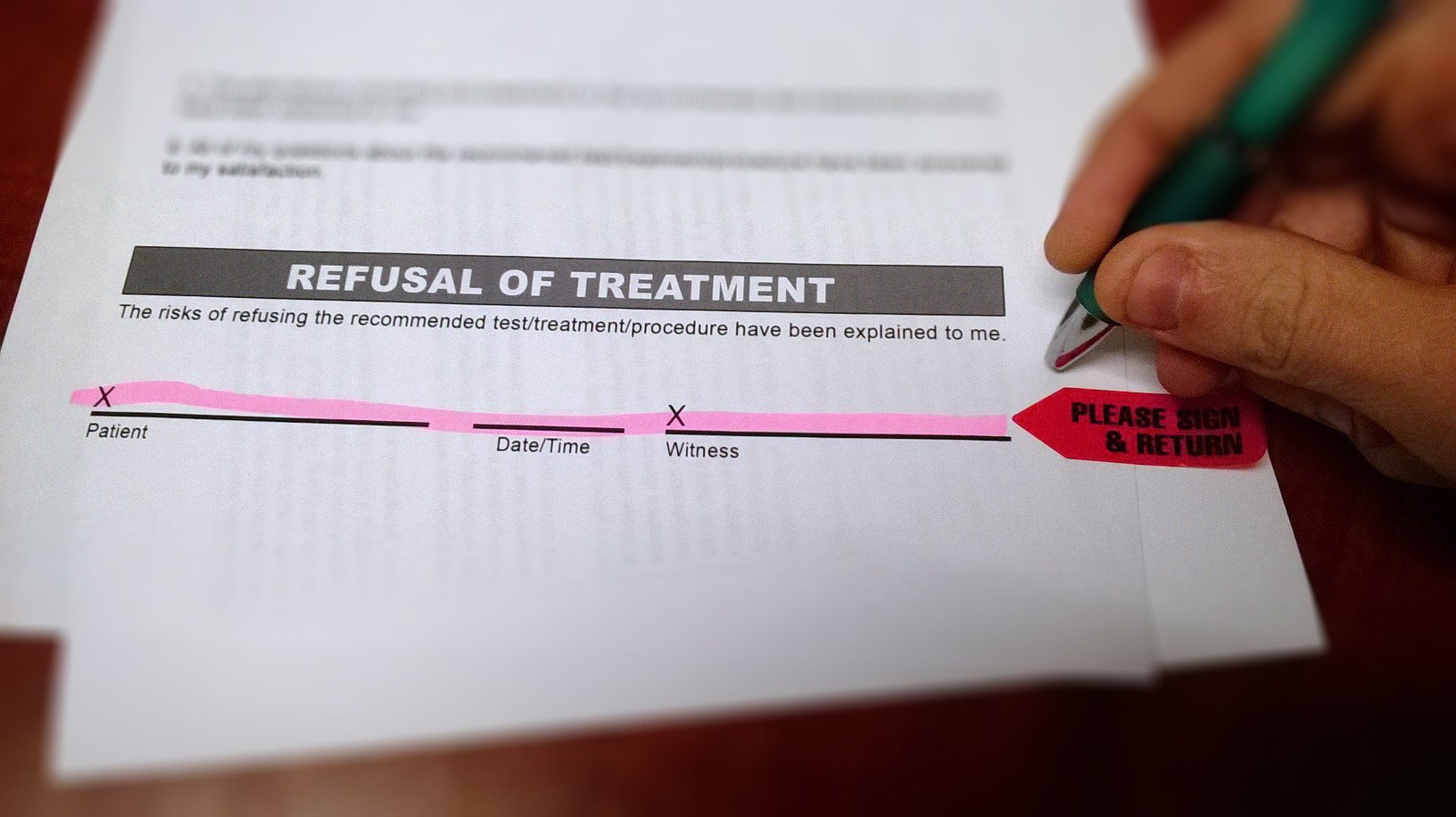 Refusal Of Treatment form File Refusal Of Treatment