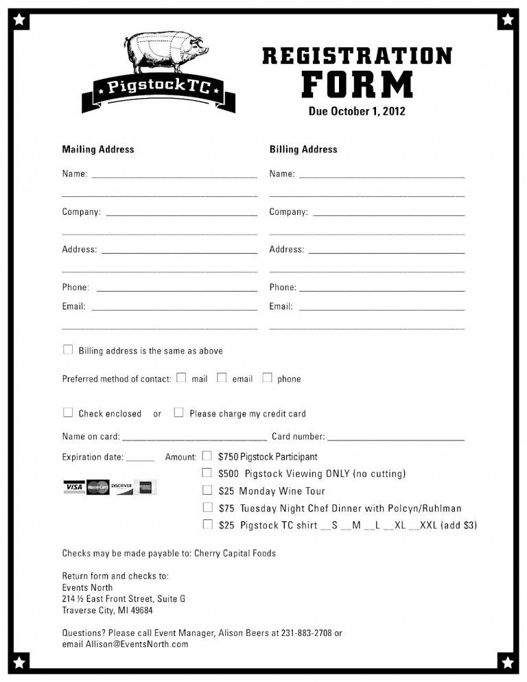 Registration form Template Free Download Registration form Template
