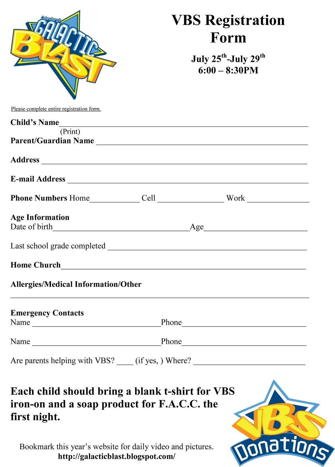 Registration form Template Free Free Vbs Registration form Template Vbs