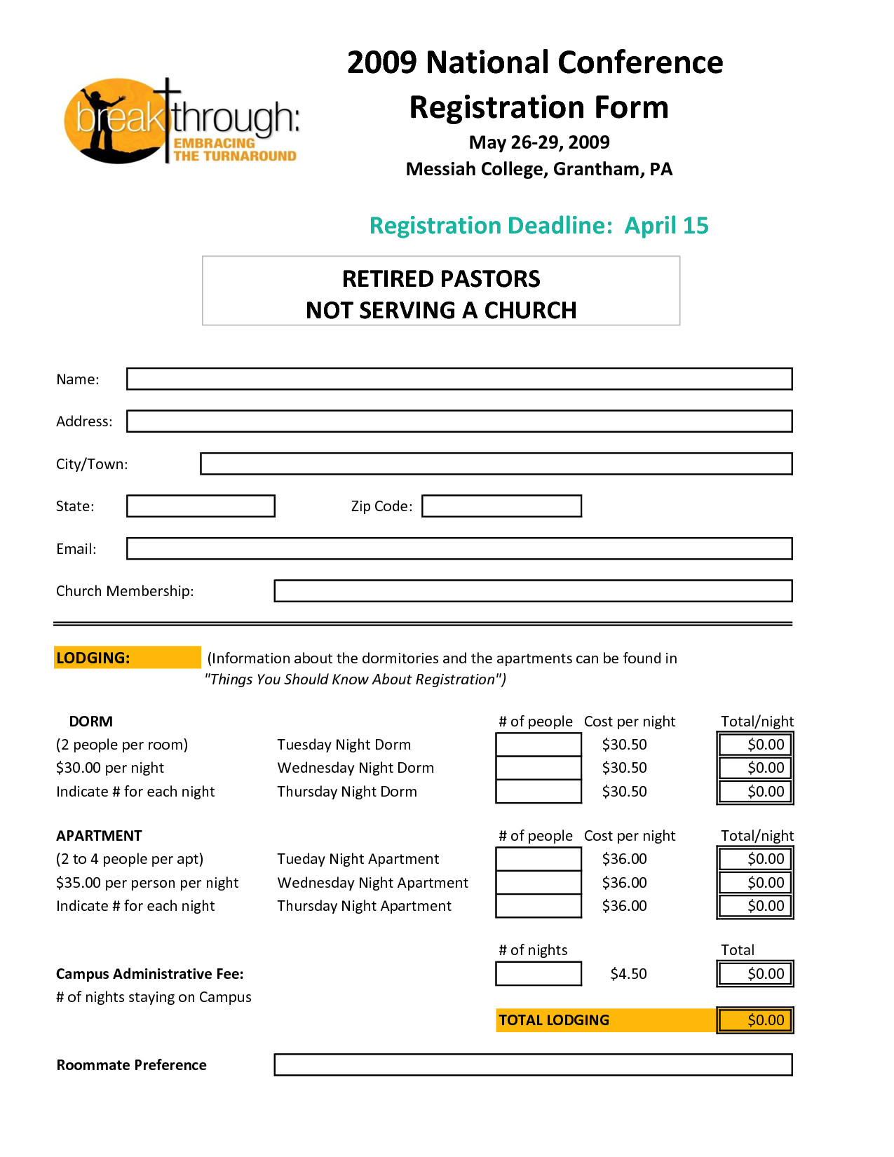 Registration form Template Microsoft Word Registration form Template