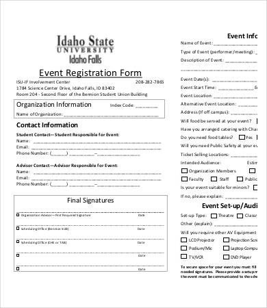 Registration forms Template Free 10 Printable Registration form Templates Pdf Doc