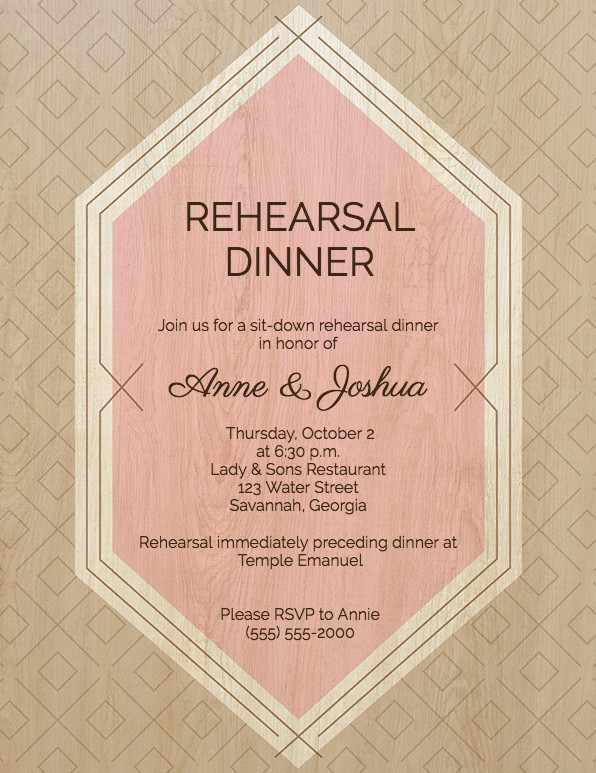Rehearsal Dinner Invitation Template Guide to Rehearsal Dinner Invitation Wording