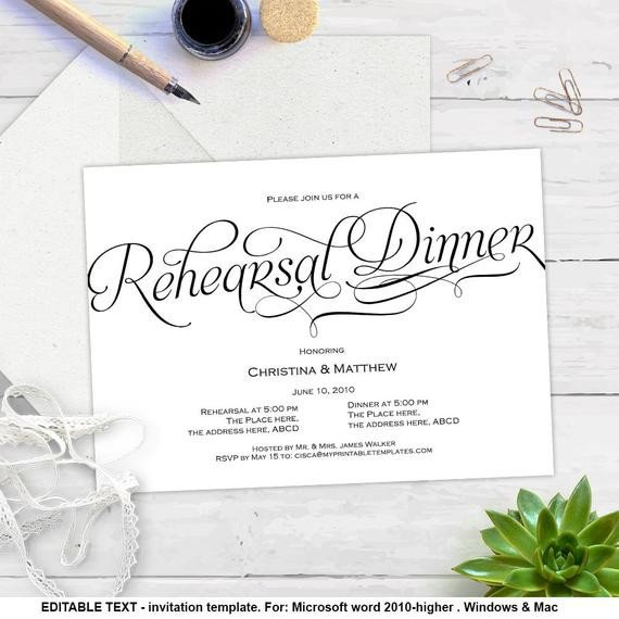 Rehearsal Dinner Invitation Template Printable Invitation Templates Rehearsal Dinner Diy