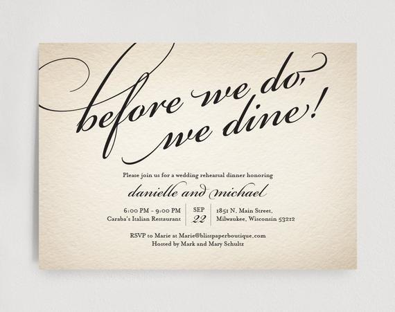 Rehearsal Dinner Invitation Template Wedding Rehearsal Dinner Invitation Editable Template before