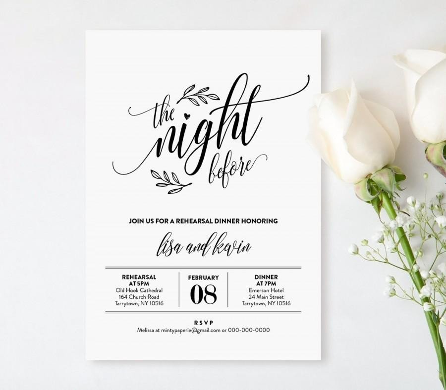 Rehearsal Dinner Invitation Template Wedding Rehearsal Dinner Printable Diy Rehearsal