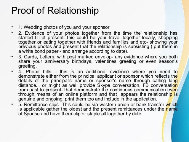 Relationship Support Letters Examples Spouse or Partner Sponsorship In Canada