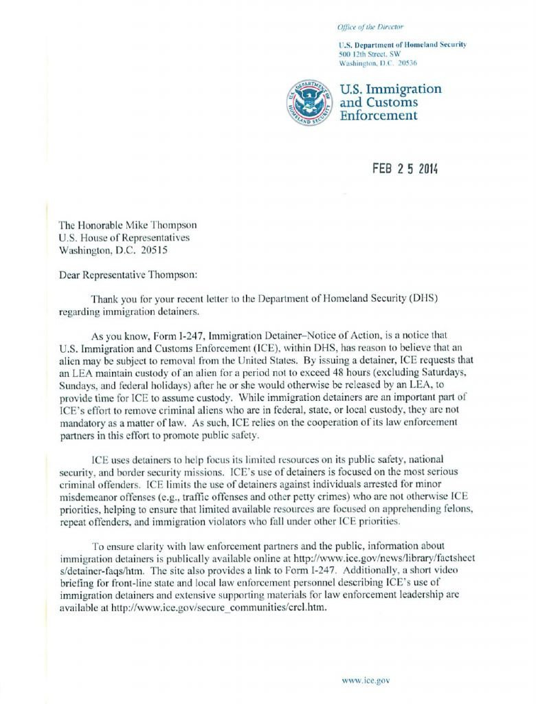 Relationship Support Letters Immigration Recent Developments On Ice Holds In oregon
