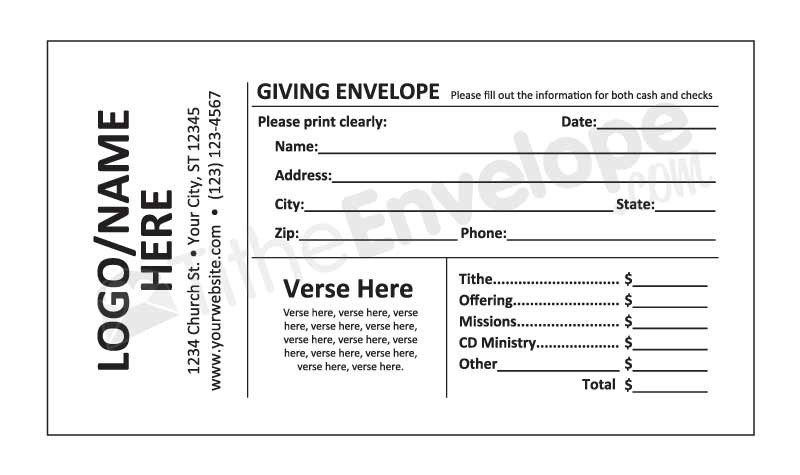 Remittance Envelope Template Word Offering Envelope Printing Customized Offering Envelope