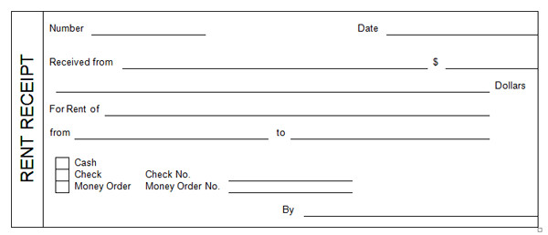 Rent Receipt Template Word Document 14 Rent Receipt Templates Excel Pdf formats