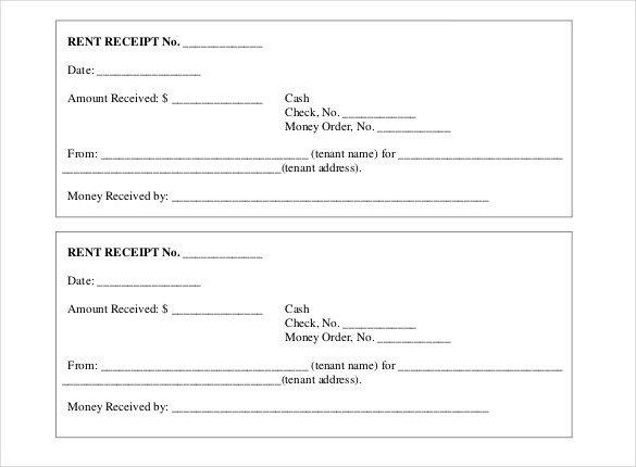 Rent Receipt Template Word Document 35 Rental Receipt Templates Doc Pdf Excel