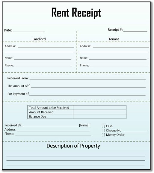 Rent Receipt Template Word Document 8 House Rent Receipt Template In Doc Pdf format