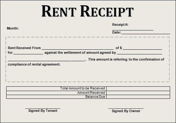 Rent Receipt Template Word Document Sample Rent Receipt Template 20 Download Free Documents