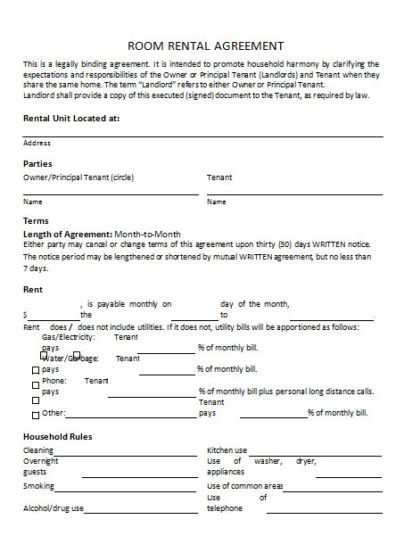 Rental Agreement Template Doc Rental Agreement Template 25 Templates to Write Perfect