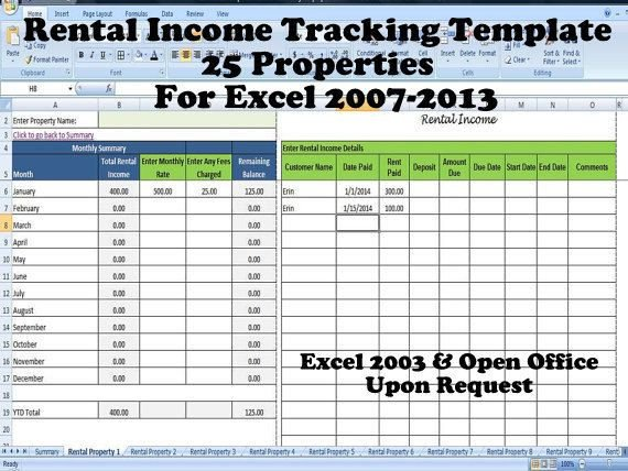 Rental Income Spreadsheet Template Tenant Payment Record Rental Payment Record Template 25