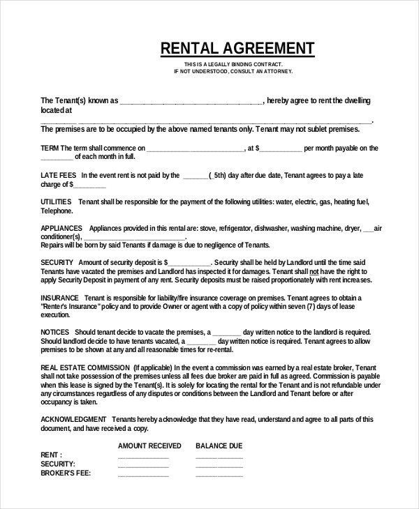 Rental Lease Agreement Template 44 Simple Rental Agreement Templates Pdf Word