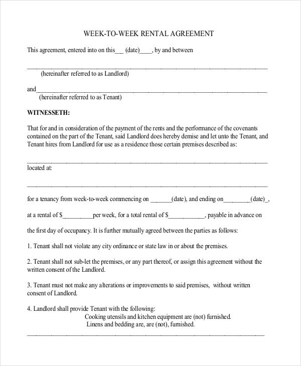 Rental Lease Agreement Template Simple Rental Agreement – 10 Free Word Pdf Documents