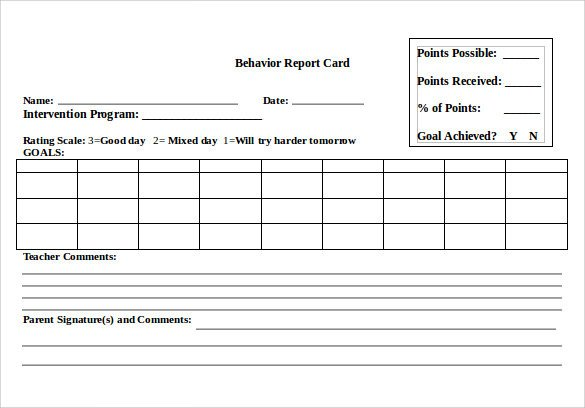 Report Card Template Word 14 Progress Report Card Templates Docs Word Pdf Pages