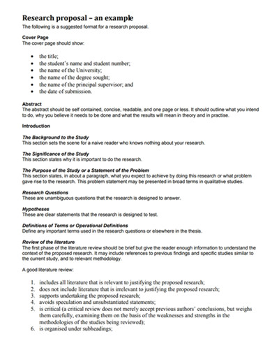 Research Paper Proposal Template Research Proposal Template Free Download Create Edit