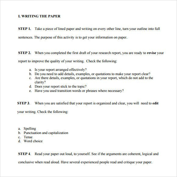 Research Paper Template Word Paper Outline Template 7 Download Free Documents In Pdf