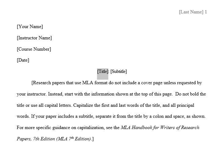 Research Paper Template Word What the What Word Has An Mla Template
