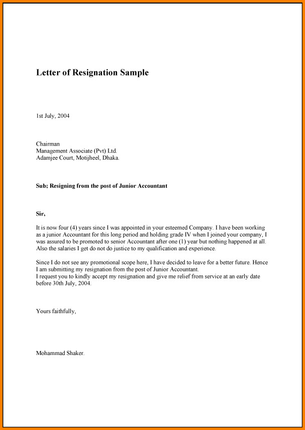Resignation Letter Personal Reason 8 Resignation Letters for Personal Reasons