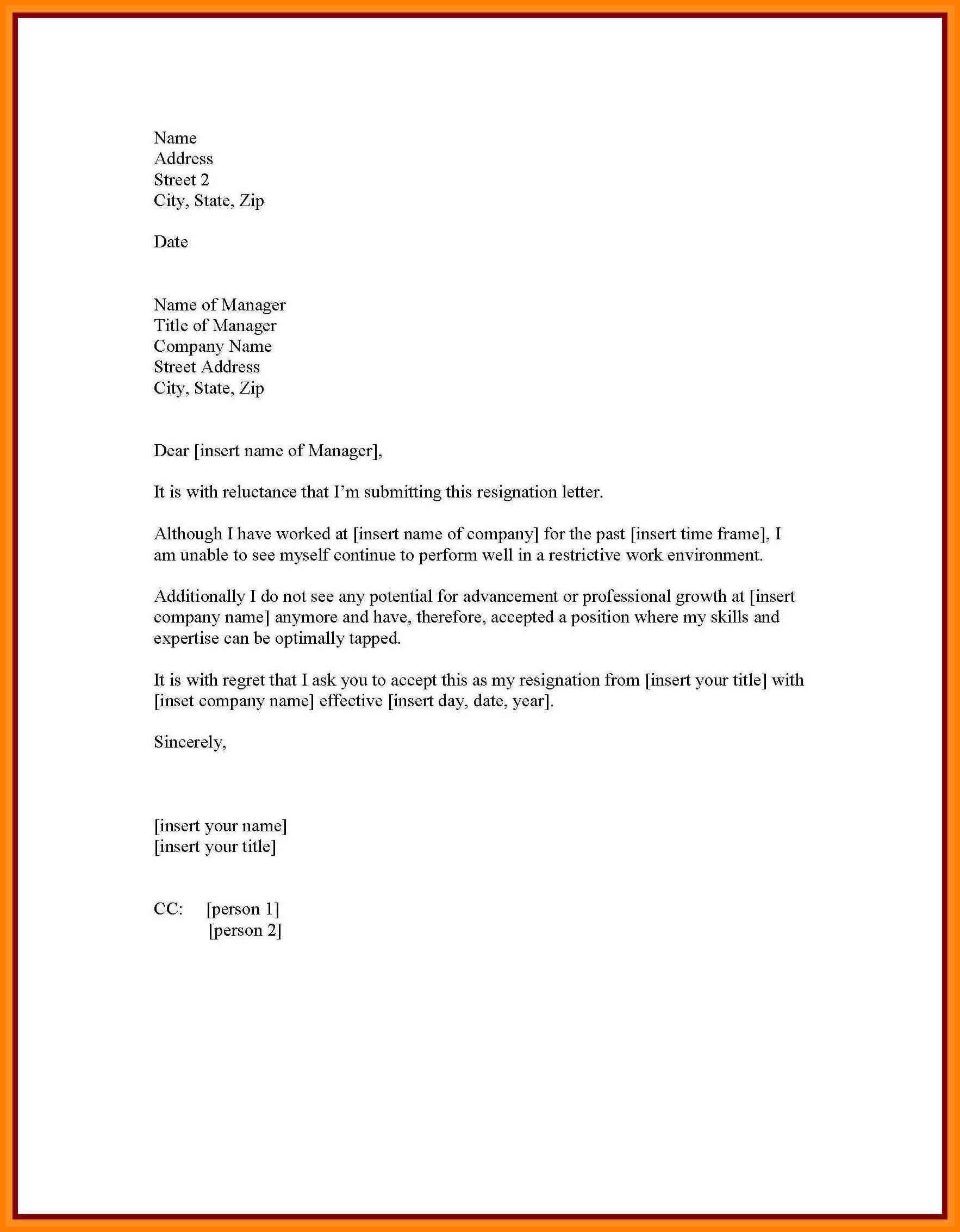 Resignation Letter Personal Reason Sample Resignation Letter Personal 6 Cover Letter
