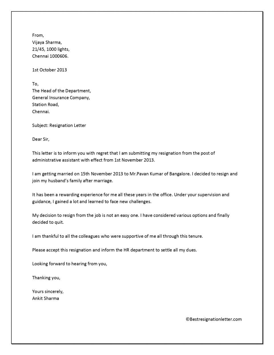 Resignation Letter Personal Reasons 17 Free Resignation Letter Pdf Doc Examples Nurse Ex