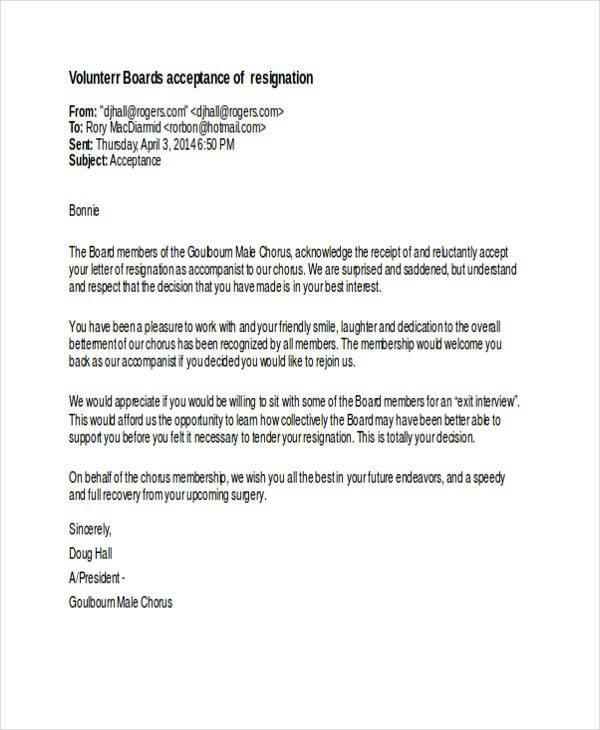 Resignation Letter Volunteer organization 49 Resignation Letter Examples