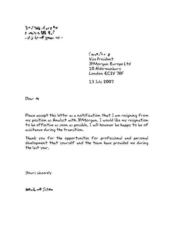 Resignation Letter Volunteer organization How to Write Up A Resignation Letter Vision Professional