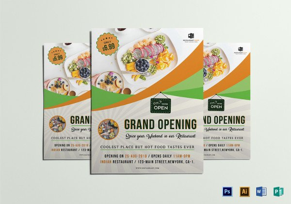 Restaurant Grand Opening Flyer 30 Restaurant Flyer Templates Editable Psd Ai Vector