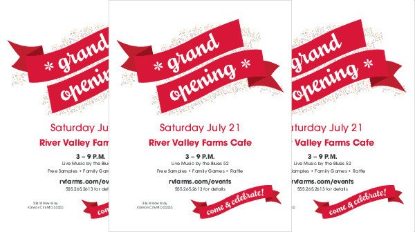Restaurant Grand Opening Flyer 50 Sample Flyers