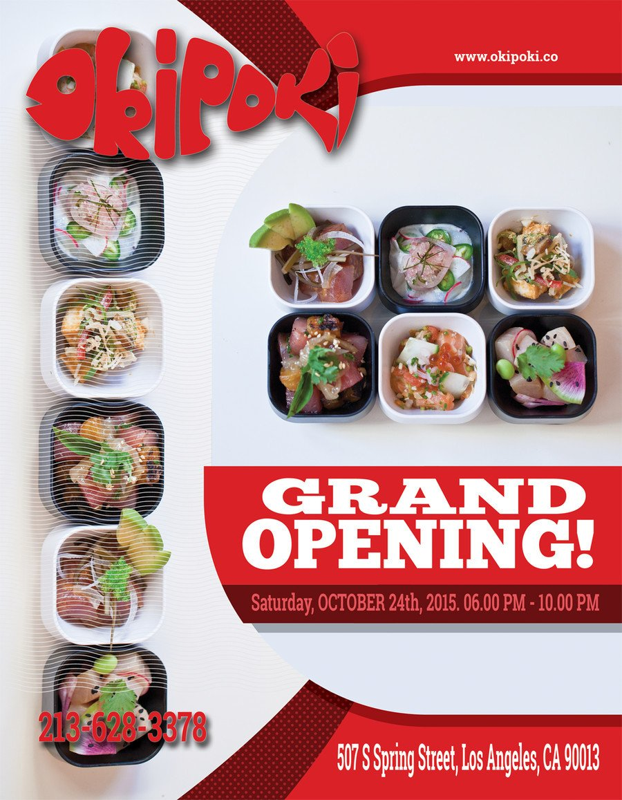 Restaurant Grand Opening Flyer Design Restaurant Grand Opening Flyer