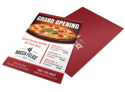 Restaurant Grand Opening Flyer Food & Beverage Flyer Templates