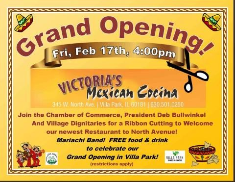 Restaurant Grand Opening Flyer Grand Opening & Ribbon Cutting at Victoria S Mexican
