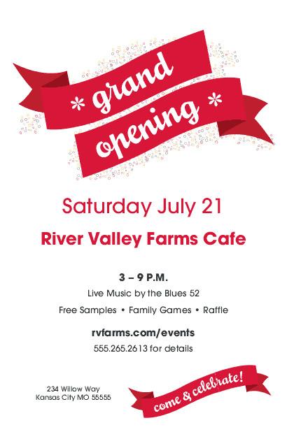 Restaurant Grand Opening Flyer Grand Opening Flyer