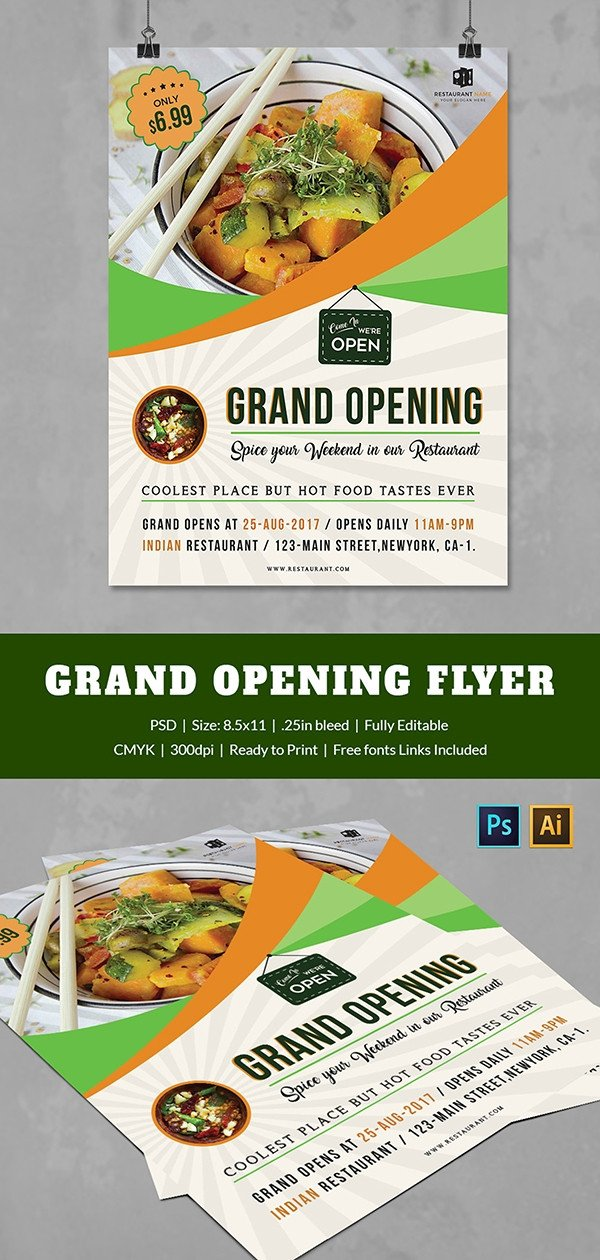 Restaurant Grand Opening Flyer Grand Opening Flyer Template 34 Free Psd Ai Vector