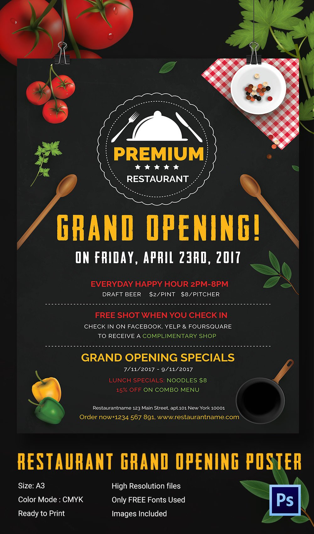 Restaurant Grand Opening Flyer Grand Opening Invitation Templates