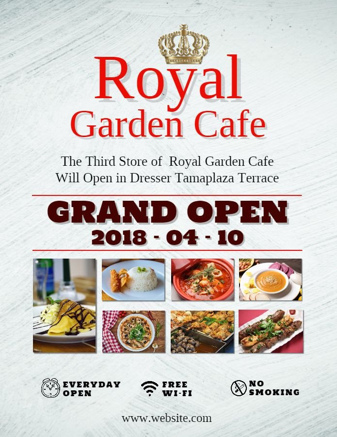 Restaurant Grand Opening Flyer Restaurant Cafe Grand Opening Invitation Poster Flyer